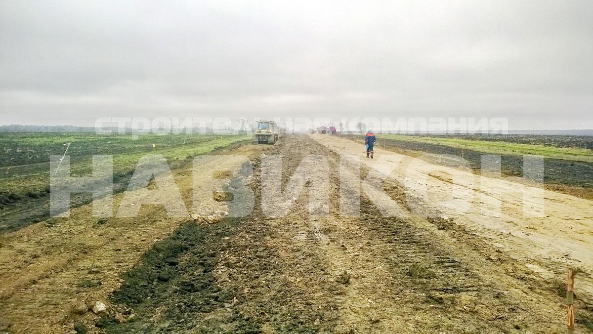 Строительство дороги д. Хрепелка